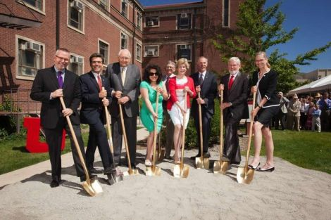 College of Law ceremonial groundbreaking.