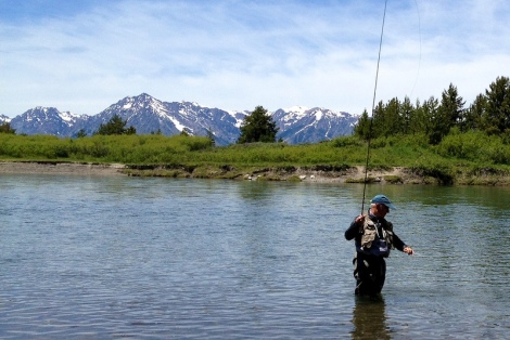 Yvon Chouinard fishes in the Snake River. Photo by Sam Beebe (http://www.flickr.com/photos/sbeebe/)