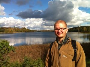 Sociology Professor, Andrew Jorgenson, at Trakai Lake, Lithuania