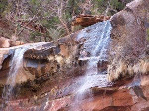 Waterfall at Zion National Park