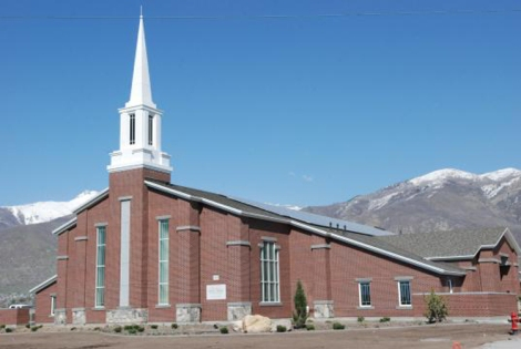 One of the LDS Church's solar-powered meeting houses. Image Courtesy of LDS Intellectual Reserve.