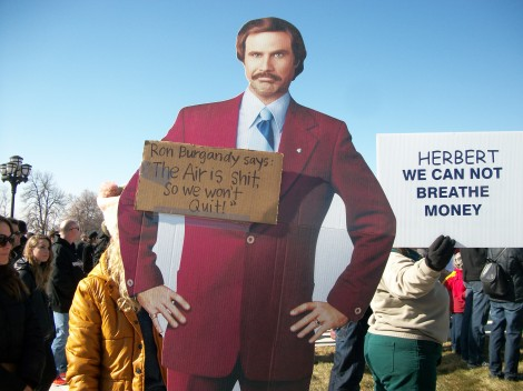 Even Ron Burgundy stopped by to show his support for clean air!