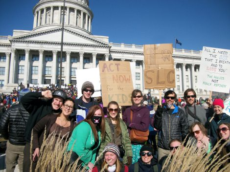 Several of my friends and other students in the Environmental Humanities program stopped out to show support.