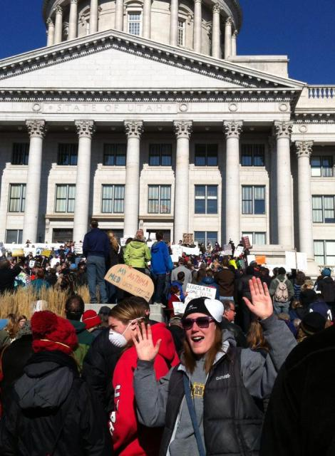 I'm rallying for clean air at Utah's State Capitol