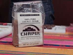 The main ingredient in Chaupl's energy bars: ground up crickets!