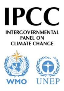 IPCC's logo, courtesy of the Nobel Prize website.