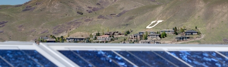 Solar panels at the University of Utah.