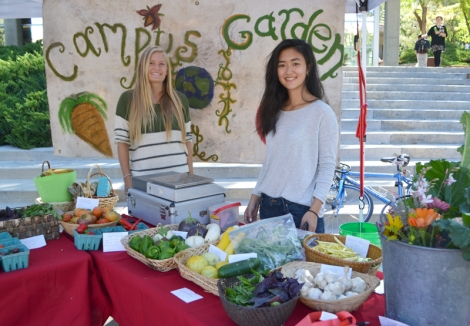 Volunteer at the Edible Campus Gardens Farmers Market stand!