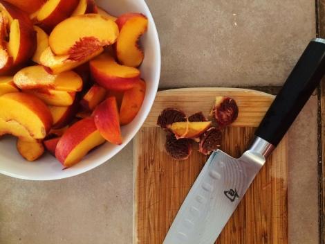 Prep your fruit for a delicious cobbler.