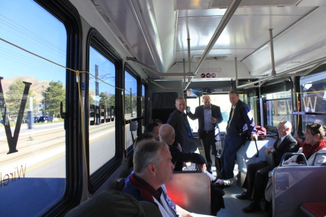 Riding the electric bus
