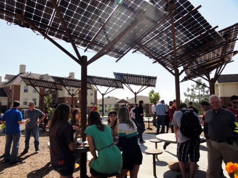 The recently opened Shoreline Solar Plaza was partially funded through SCIF.