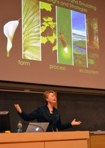 A student applied for SCIF funds to help pay to bring biomimicry pioneer Janine Benyus to the U in February 2013.