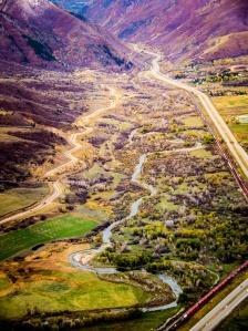 Weber River. Photo by Ben Nadolski, Utah Division of Wildlife Resources.