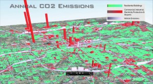 An image generated by the Hestia project, which aims to quantify human-caused carbon emissions at the city level. Image: http://hestia.project.asu.edu/newsroom.shtml