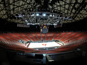 The renovated Huntsman Center. Photo courtesy Stadium & Arena Event Services.