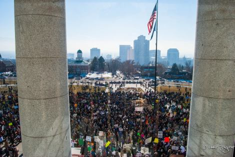 "A view of last year's rally, from the Capitol Steps. Photo taken by Eduardo Viacava Passanesi. Posted on last year's ""Clean Air, No Excuses"" event page."