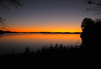 Lake Hartwell, the South Carolina reservoir where Brownlee and fellow researchers performed their surveys.  Photo: South Carolina Dept. of Natural Resources.
