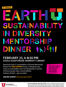 Register for the Earth U Sustainability in Diversity Mentorship Dinner