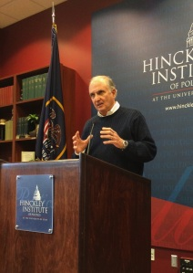 David Orr spoke on sustainability leadership at Friday's Hinckley Forum.