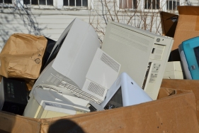 Lead, especially in older televisions and computers, is one of the major concerns with electronic waste.