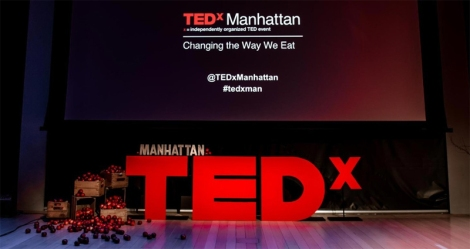 """Watch TEDx Manhattan """"Changing the Way We Eat"""" this Saturday, March 7, from 9:30 am to 4 pm in the Gould Auditorium of the Marriott Library."""