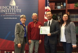 Youcan Feng received the Campus as a Living Lab Award for his work on green roofs.