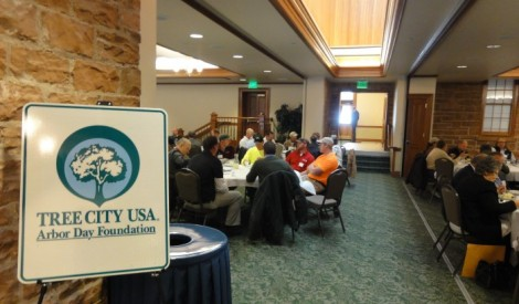 Arborists, foresters, and tree lovers gathered Wednesday in the Officer's Club to celebrate Utah's Tree City USA and Tree Campus USA designations.