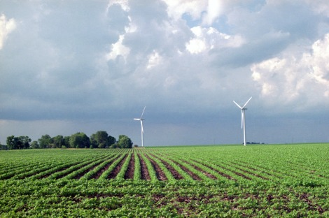 Wind turbines near Blairsburg, Iowa.