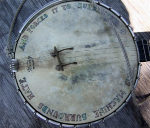Pete Seeger's banjo. Photo by TCDavis / Flickr, Creative Commons.