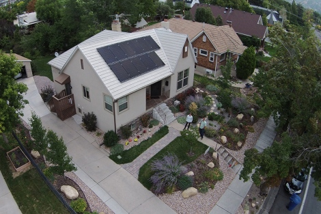 Solar panels on Amy Wildermuth's home.
