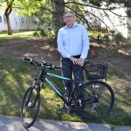 Deputy Chief Sustainability Officer Myron Willson is an avid bike commuter.