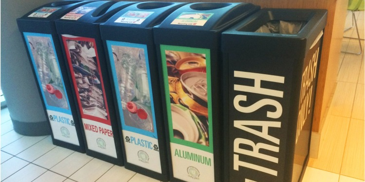 Keep an eye out for our campus recycling bins!