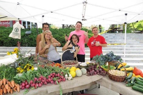 Eating sustainably is made possible on campus, thanks to our enthusiastic edible campus gardens staff.