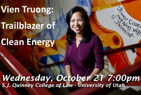 Vien Truong will be speaking at the University of Utah on social justice and the climate movement
