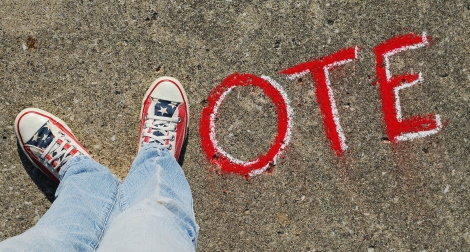 Get out and vote! Photo by Theresa Thompson