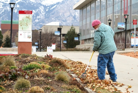 Elizabeth Johnson is just one of the many landscaping crew members that make our campus beautiful