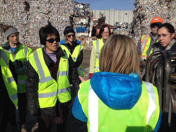 U Recycling Ambassadors get a scalable look inside waste recycling.