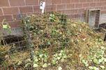 Fresh composting materials.