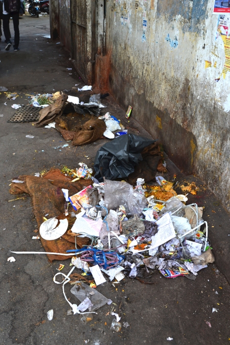 Walking through the old city of Hyderabad, we stumbled on this pile of trash. With no owner nearby, it seemed as though this garbage was just left on the street for someone else to burn.