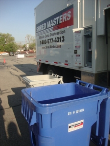 Shred Masters handles all paper shredding at the U Recycle Day event.