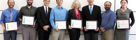 The Alta Sustainability Leadership Award winners, recognized for their innovative research efforts at the University.