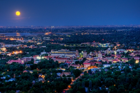 Moon over CU by Yuya Sekiguchi. CC BY-SA 2.0