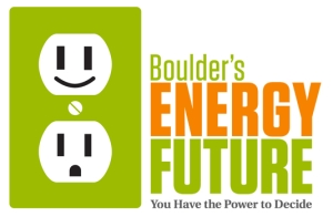 "Flyer from Boulder. Co saying ""Boulder's energy future: you have the power to decide."