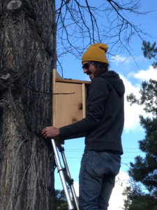 SCIF Project Executive Colter Dye installs the future homes for Kestrels.