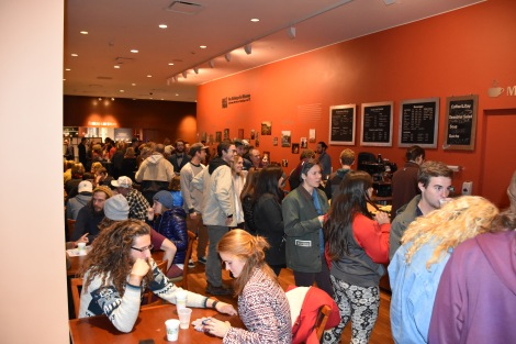Students gathered for the wild and scenic film festival.