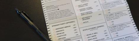 2016 Election Ballot
