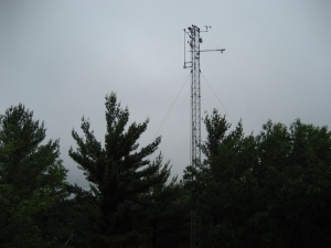 PhenoCam tower at Harvard Forest, MA, with cameras mounted at the top. Courtesy of Andrew Richardson.