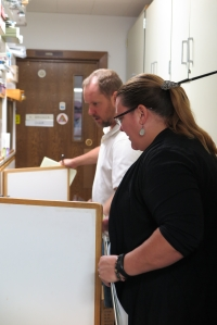Karren Nichols reviewing office initiatives.